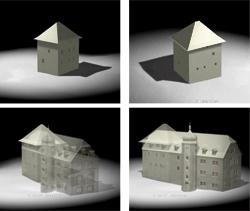 Entwicklung des Mittelalterlichen Wohnturms, Still: Animation (Bauhaus-Universität, Weimar)